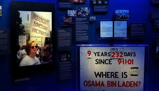 Material em exposição no museu do 11 de setembro