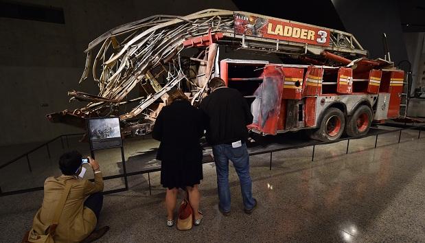 Caminhão de bombeiros nomuseu do 11 de setembro