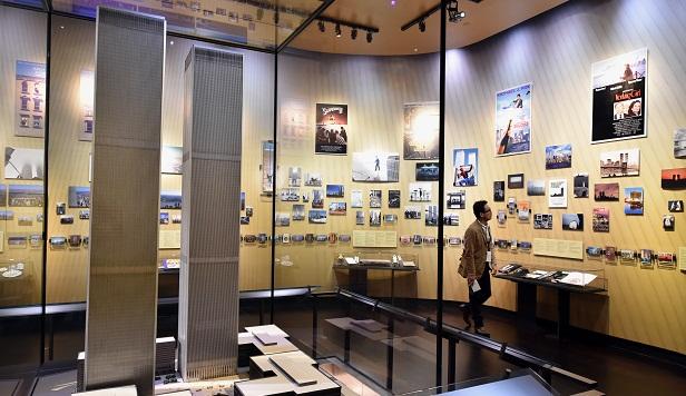 Maquete mostra o antigo World Trade Center