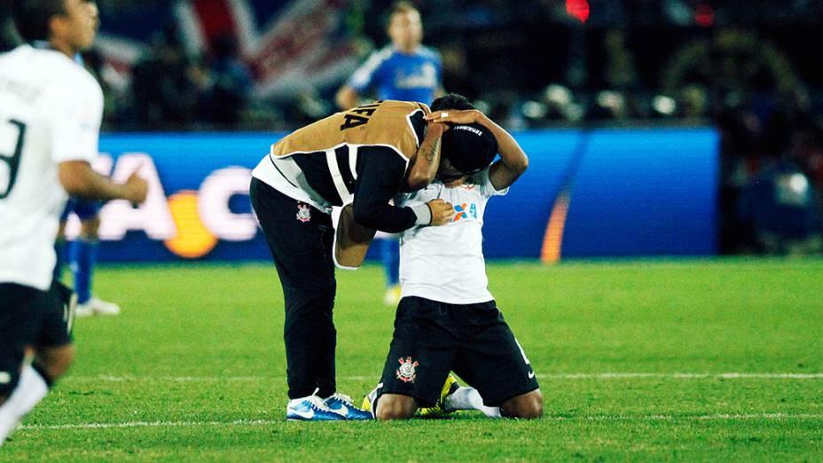 Jogadores do Corinthians comemoram o título do Mundial de Clubes da Fifa