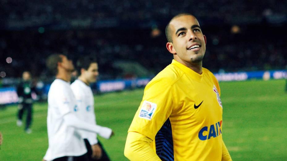 Danilo Fernandes do Corinthians comemora o título do Mundial de Clubes da Fifa, em Yokohama