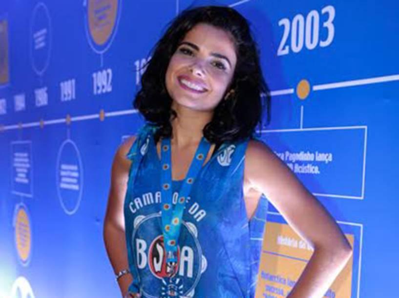 A atriz Vanessa Giácomo chega na Sapucaí no primeiro dia de desfiles do Grupo Especial, no Rio