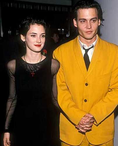 Johnny Depp e Winona Ryder, no início dos anos 1990.