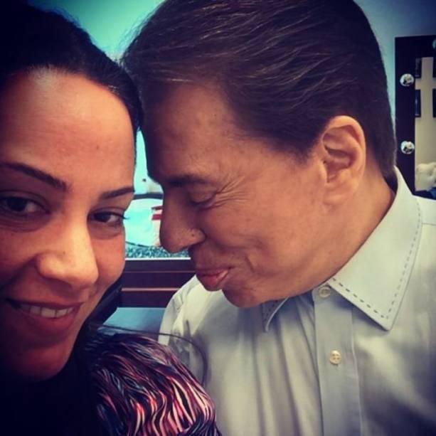 Silvia Abravanel e Silvio Santos
