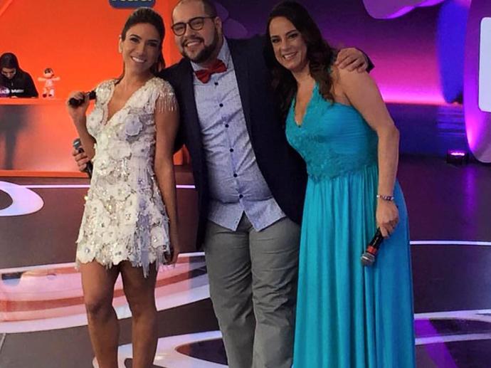 Patricia, Tiago e Silvia Abravanel no Teleton