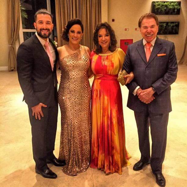 Silvia Abravanel e a família