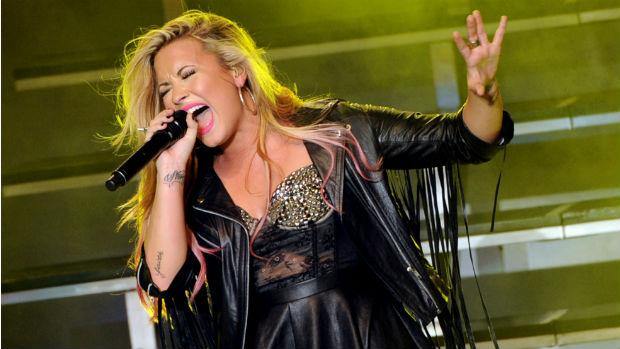 A cantora Demi Lovato em foto de 2012