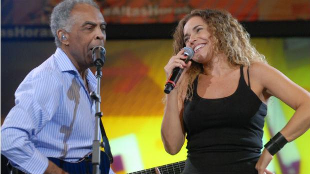 Daniela Mercury canta ao lado de Gilberto Gil em 2012