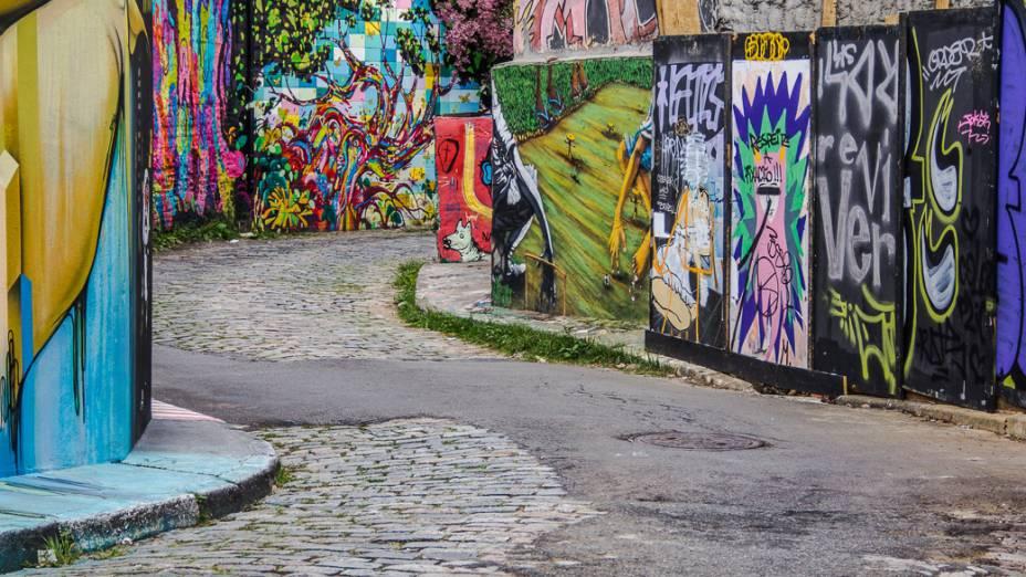 <p>Sob o Beco do Batman, na Vila Madalena, corre o Rio Verde</p>