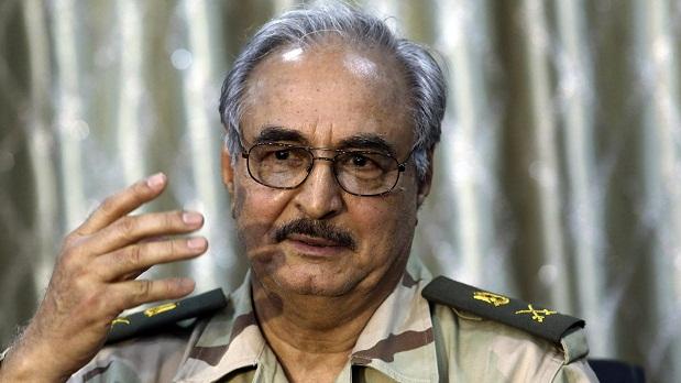 O general da reserva Khalifa Haftar