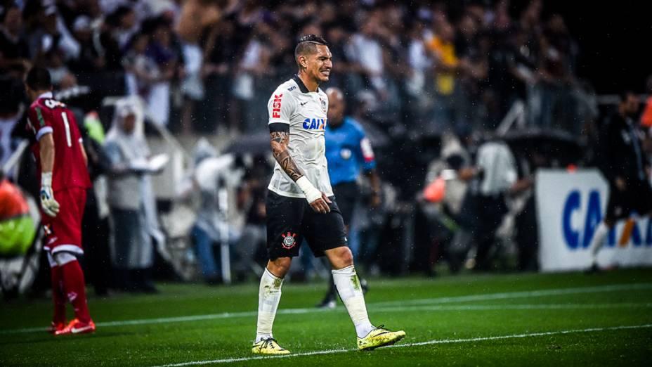 Guerrero lamenta chance perdida na partida entre Corinthians e Figueirense
