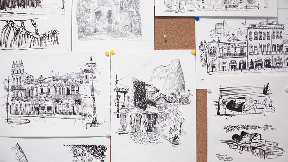 """Escritório dos """"doodlers"""" no prédio do Google, em São Paulo"""