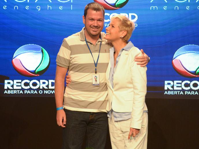 Xuxa e o (agora ex) diretor de seu programa, Mariozinho Vaz