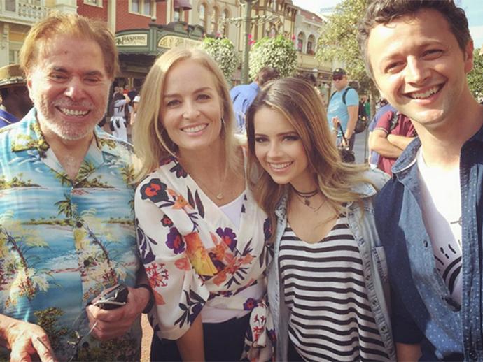 Silvio Santos, Angélica, Sandy e Lucas Lima em Orlando