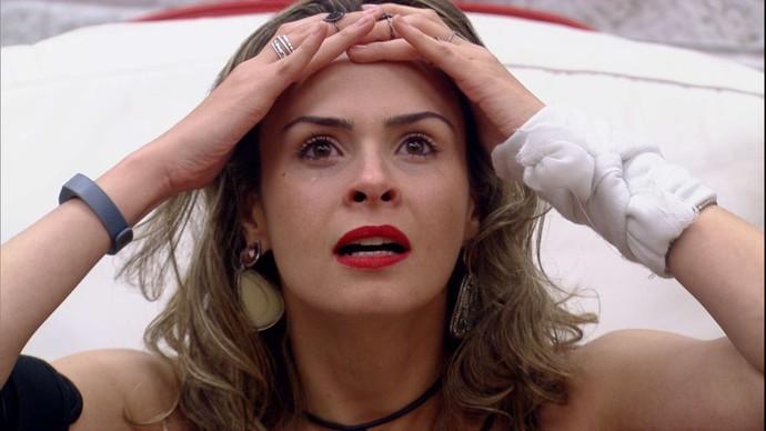 Ana Paula ao descobrir que não havia sido eliminada do BBB16