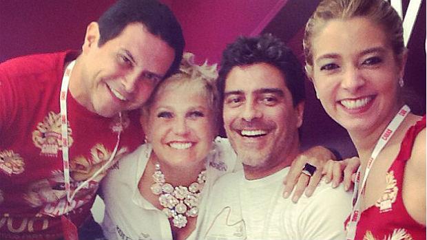 Xuxa e Junno Andrade juntos no Carnaval
