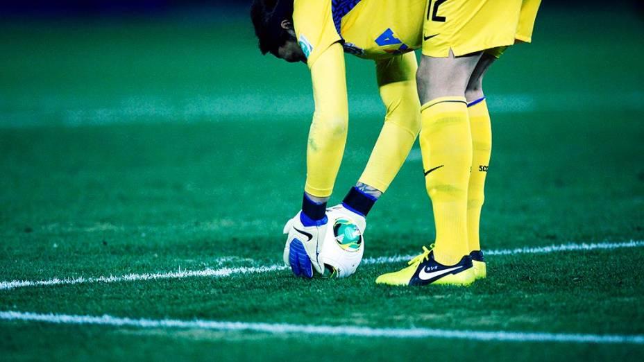 Goleiro Cássio durante final do Mundial de Clubes da Fifa, em Yokohama