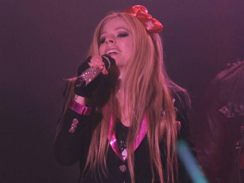 A cantora Avril Lavigne