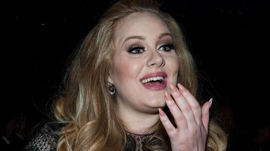 A cantora britânica Adele