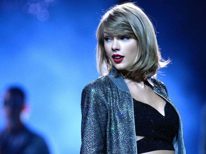 A cantora Taylor Swift na turnê do disco 1989
