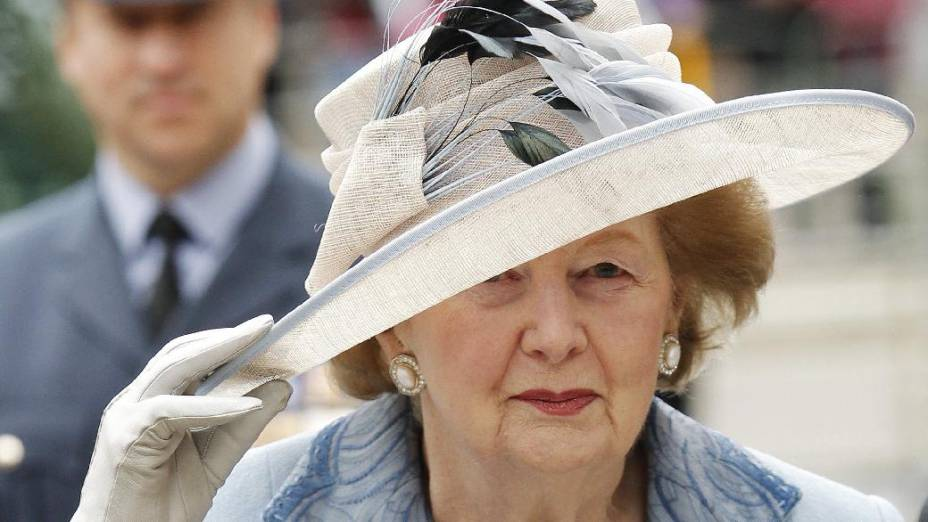 A ex-primeira ministra britânica Margaret Thatcher em foto de 2010