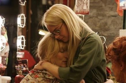 Lindsay Lohan em cena com Meryl Streep em <em>A Última Noite</em> (2006)