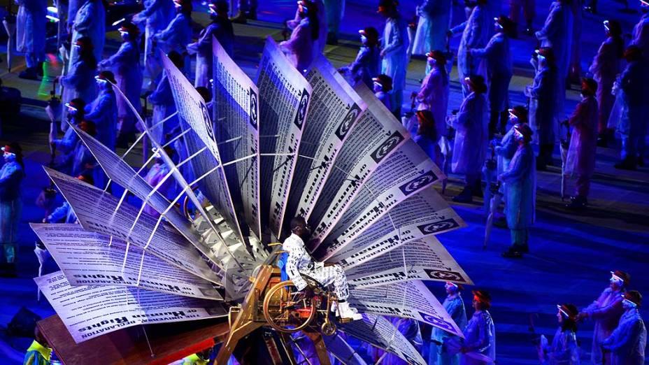 Cerimônia de abertura das Paralimpíadas em Londres