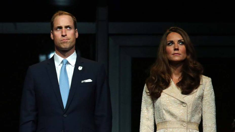 Príncipe William e Kate Middleton durante cerimônia de abertura da Paralimpíada