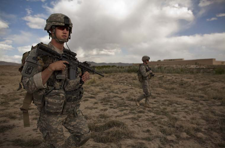 Exército americano durante patrulha.