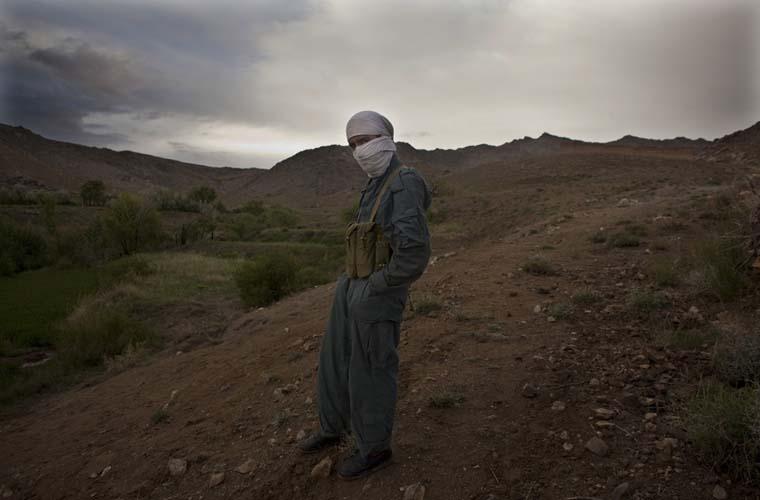 Integrante da Polícia Nacional do Afeganistão.