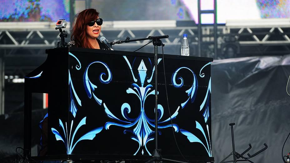 A cantora Pitty, na apresentação do Agridoce no Lollapalooza, em São Paulo