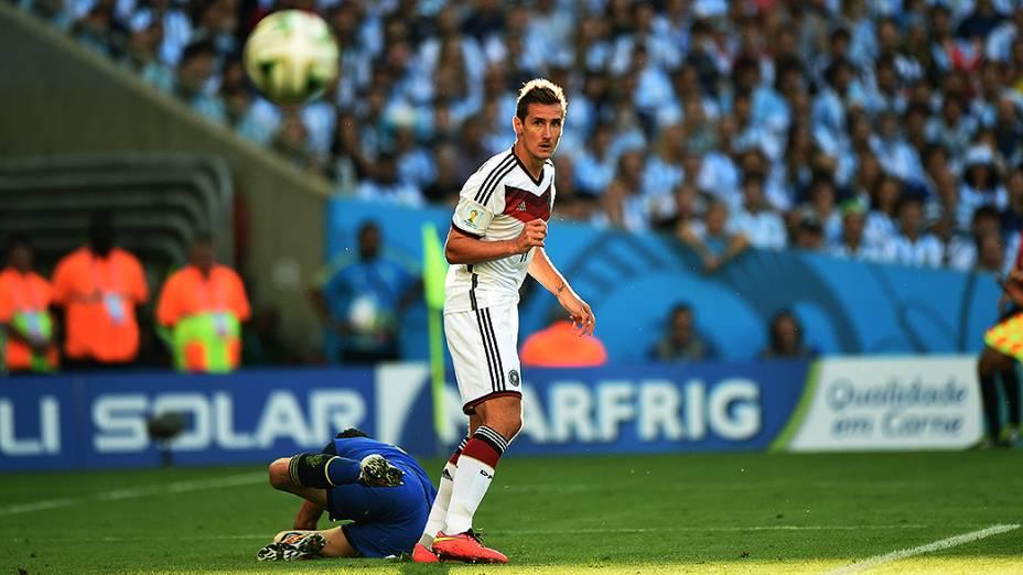 O alemão Klose durante o jogo contra a Argentina na final da Copa no Maracanã, no Rio