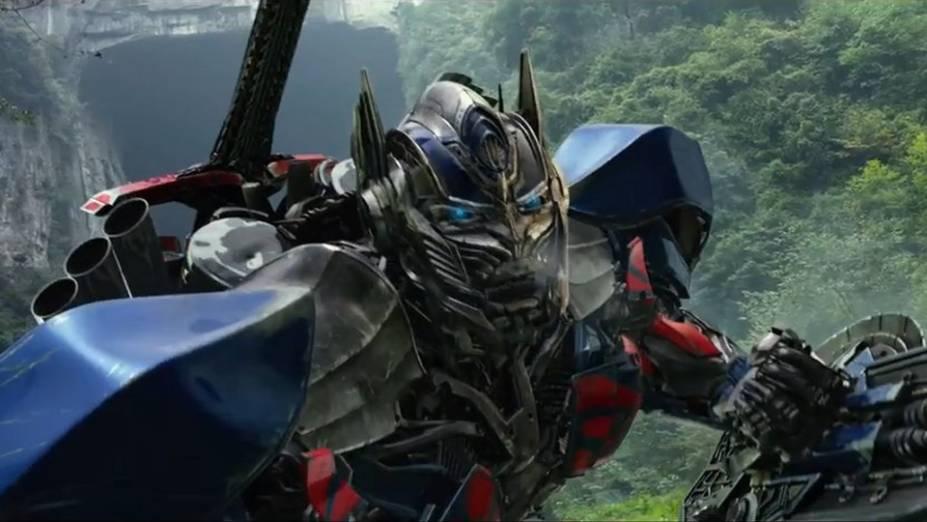 O robô Optimus Prime em cena do filme Transformers: A Era da Extinção