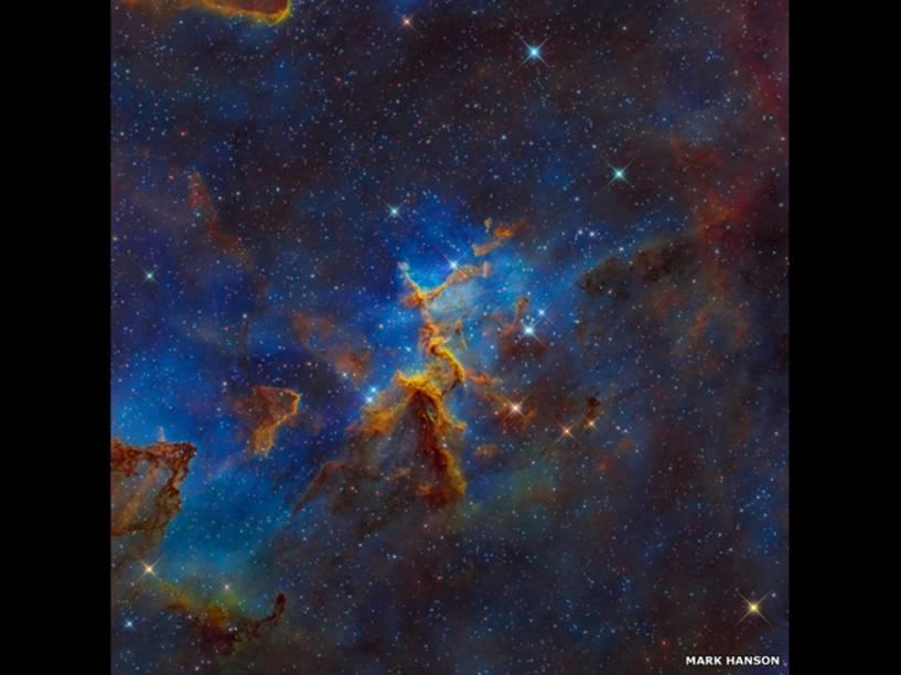 <p>Nebulosa do coração, a 7,5 mil anos-luz da Terra. Foto de Mark Hanson</p>