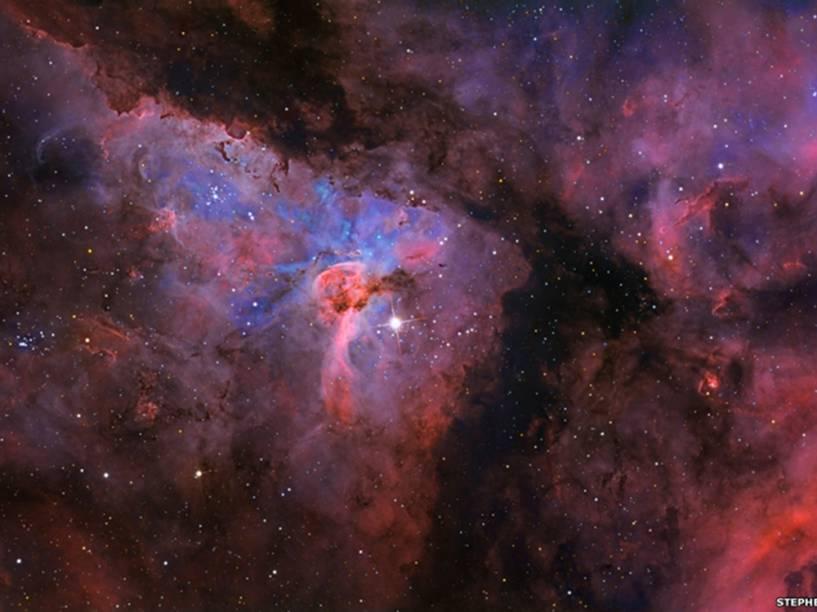 <p>Nebulosa de Eta Carinae, a 7,5 mil anos-luz do Sol, por Stephen Mohr</p>