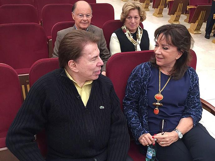 Silvio Santos, Iris Abravanel, Edir Macedo e Ester Bezerra no Templo de Salomão