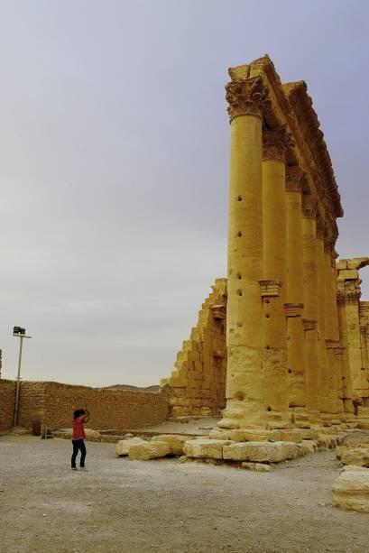 <p>Ruínas romanas de mais de 2.000 anos na cidade de Palmira, na Síria</p>