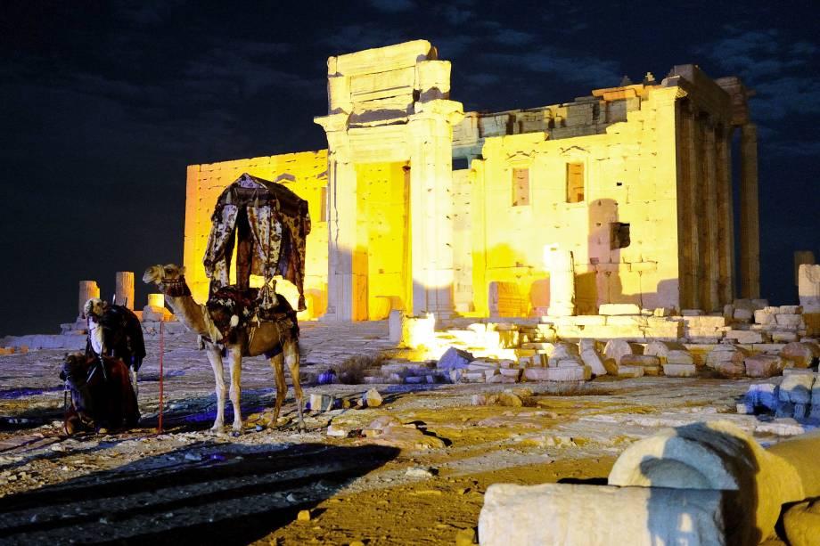 <p>Templo antiquíssimo na cidade de Palmira, na Síria</p>