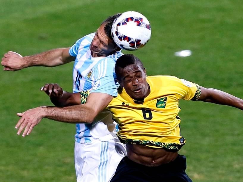 Partida entre Argentina e Jamaica realizada no Estadio Sausalito, Viña Del Mar, pelo Grupo B da Copa América