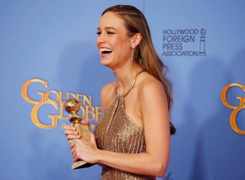 Brie Larson vencedora por O quarto de Jack