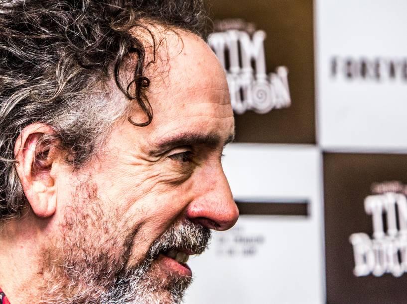 Coletiva de imprensa com Tim Burton, na estreia de sua exposição, no Museu da Imagem e do Som (MIS), em São Paulo, nesta quarta-feira (10)
