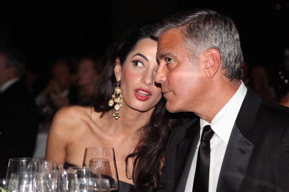George Clooney e Amal Alamuddin no Celebrity Fight Night