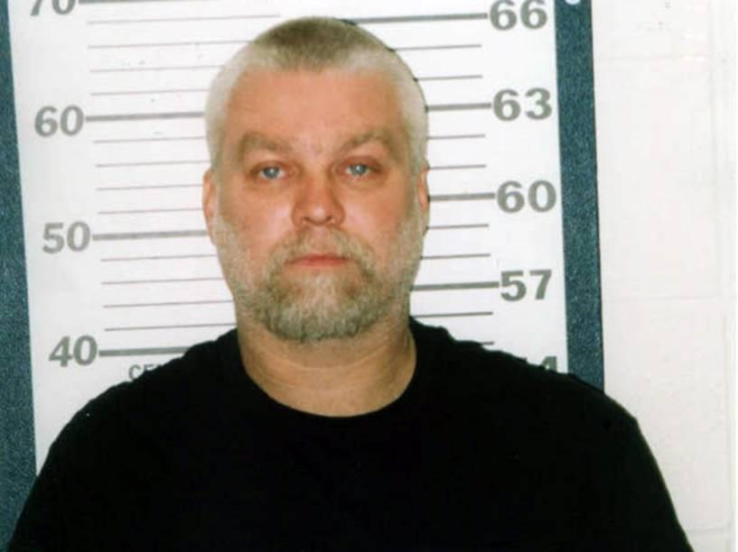 Steven Avery ao ser preso pelo homicídio de Teresa Halbach, em 2005