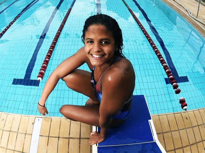 Etiene Medeiros durante treino no Sesi-SP Vila Leopoldina