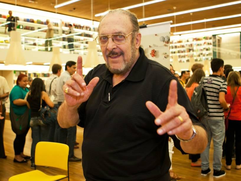 Luiz Carlos Miele durante o lançamento do livro Fim de Fernanda Torres em São Paulo - Dezembro de 2013
