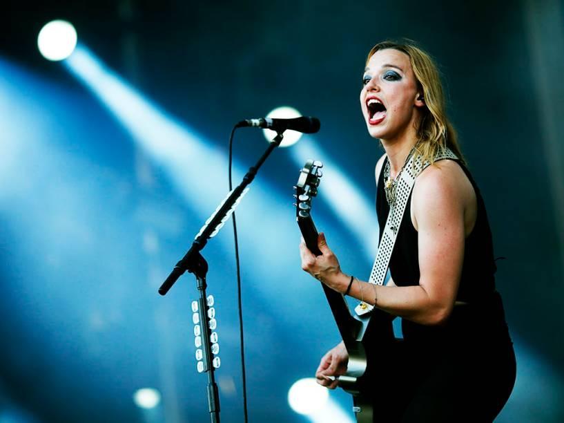 Apresentação da banda Halestorm no quarto dia do Rock in Rio 2015