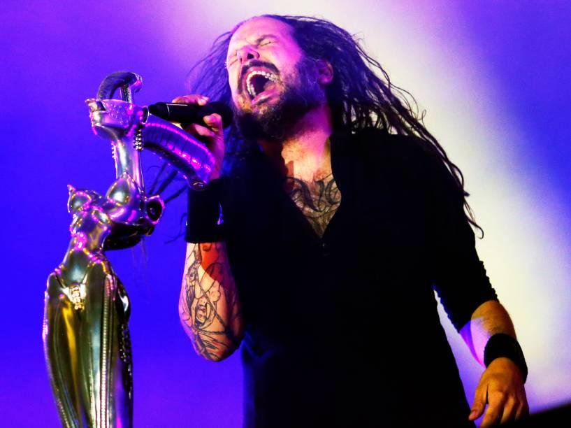 Apresentação da banda Korn no segundo dia do Rock in Rio 2015