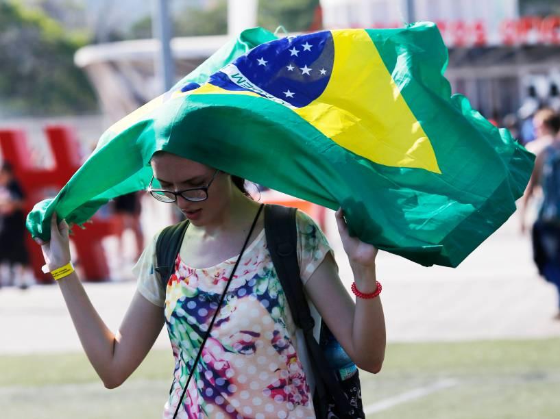 Movimentação do público na Cidade do Rock, para o quarto dia de shows do Rock in Rio, nesta quinta-feira (24)