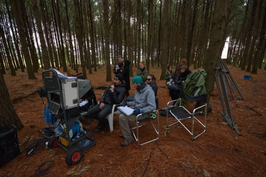 Bastidores das filmagens de A Floresta que se Move, do diretor Vinicius Coimbra