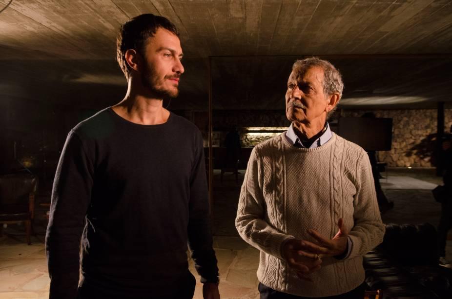 Gabriel Braga Nunes e Nelson Xavier em A Floresta que se Move, que deve chegar aos cinemas no segundo semestre de 2015